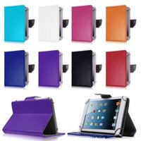 No Folding Folio Case 7'' 2016 New 7 inch 9 inch Multi-color Leather Case Flip Cover Built-in Card Buckled Universal Leather Tablet Case for Tablet PC DHL P111