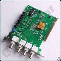 4 canales CCTV DVR de seguridad de la tarjeta PCI de captura de envío # 9810 A5 A5