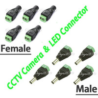 Wholesale 5 Pair Male Female High Quality mm x mm for DC Power Jack Adapter Connector Plug For CCTV Camera