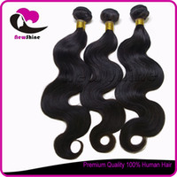 cuticle remy hair - High Quality No Tangle a Natural Color Unprocessed Brazilian Virgin Remy Hair Full Cuticle Bouncy Body Wave to inches Mixed Length