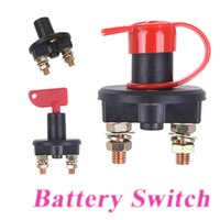 Wholesale Universal Car Truck Vehicle Battery Disconnect Cut Off Rotary Switch Brass Terminals order lt no track