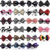 Wholesale Dog Neck Tie Dog Bow Tie Cat Tie Supplies Pet Headdress Adjustable Bow Tie E008