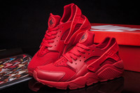 Wholesale 2015 Newest Colors Air Huarache Men s Sneaker All Red Best Quality Sneakers Breathable Running Shoes Huaraches Size Eur