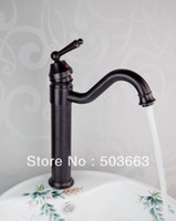 bathroom vanity black - Oil Rubbed Black Bronze Bathroom Ceramic Basin Deck Mounted Sink Single Hole Vanity Kitchen Swivel Mixer Tap Faucet MF