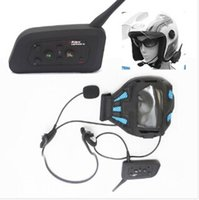 Wholesale 2 x BT M Motorcycle Helmet Bluetooth Intercom Headset Connects upto riders