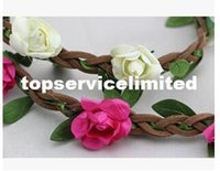 Wholesale Fashion hair accessories Ms Flower Headband Flowers Wig Ribbon Ms hoop