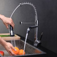 kitchen faucet spray - Chrome Kitchen Swivel Spout Single Handle Sink Faucet Pull Down Spray Mixer Tap