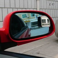 auto sector - Top quality Push Rearview View Convex Mirror Wide Angle Sector Adjustable Auto Car Blind Spot Mirror styling Silver pair