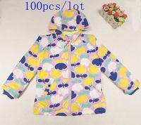 baby ski wear - 100pc Hot sale Baby girls zipper hooded with flower printed dust coat windbreaker Ski wear baby jacket clothes