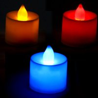 Wholesale 2 Electronic LED Candle Party Beautiful Tea Light Flameless Flickering For Freeshipping