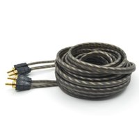 Wholesale 5m g Car Styling RH005 Series RCA Stereo Cable With OFC Connectors High Density Aluminised Foil plus heavy duty copper braids