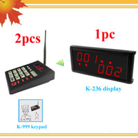 Wholesale Queue system for kitchens restaurants with wireless numeric keyboard and wireless display receiver queue management system