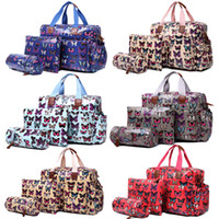 Wholesale 1 Set MISS LULU Women Butterfly Oilcloth Mummy Mum Maternity Baby Diaper Nappy Changing Handbag Satchel Tote Hand Bag L1501B