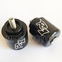 bar end for motorcycles - Motorcycle For Yamaha YZF R1 YZFR1 R1 YZF R6 YZFR6 R6 BLACK Hand Bar Ends