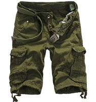 Wholesale Summer Cargo Shorts Men Multi Pockets Overalls Army Camo Short Casual Loose Bermuda Masculina Mma Gym Running Shorts Without Belt