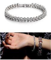 Wholesale New style fashion luxury Roman crystal bracelet sterling silver bangle bracelet high quality Austria