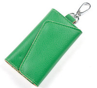 Wholesale Genuine Leather Key Holder For Home Cow Leather Classics Business Key Wallets Key Case