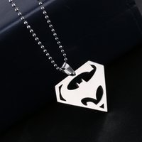 american freights - New Women Men Super Superman S Symbol Steel Necklace Pendant Chain Jewelry Stainless Steel Freight