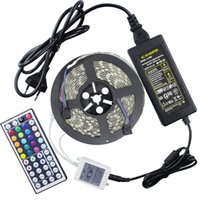Decoration SMD 5050 Yes Holiday cheapest 5M Flexible RGB LED Light Strip 16ft 5050 SMD 5M 300 LEDs WATERPROOF with Remote Controller and Power supply
