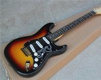 vintage black guitar - Electric Guitar with Left hand Bridge Tobacco Sunburst Color and Black Pickguard with SRV Vintage Knobs Gold Hardwares