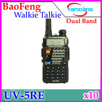 Wholesale BaoFeng UV5RE Dual Band VHF MHz UHF MHz W CH Walkie Talkie Way radio with LCD Display RW WK