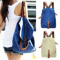 Wholesale Women Fashion Vintage Canvas Satchel Rucksack Travel Schoolbag Bookbag Backpack SV003579