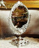 Wholesale South Korea imports purchasing fine retro desktop double sided makeup mirror vanity mirror beauty