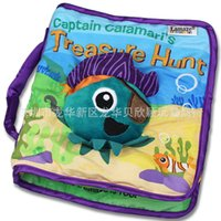 baby toys picture - LAMAZE Baby Picture Soft Puzzle Book Pillow Toys Intelligence Educational Development Cloth Book to Babies Toddler Octopus pirate captain