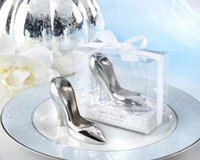 airline shoes - 100PCS Factory price High heeled Cinderella shoe bottle opener wedding bridal shower favor party gifts