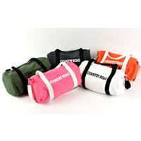 big luggages - Luggages cylinder travel big sports bag with big capacity messenger bag zipper canvas bag Travel Bags travelling bag One Shoulder Barrel bag