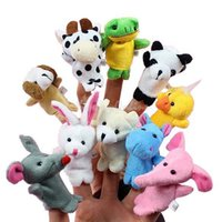 Cheap 10x Cartoon Cute Animal Finger Puppets Plush Toys Telling Story Finger Puppets Child Baby Favor Finger Toy Baby Dolls BHU2