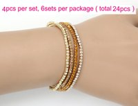 Wholesale New Arrival MIC Colors Colorful Spring Row Row Rhinestone Crystal Bracelets Tennis hot sell Jewelry Fashion