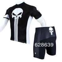 Wholesale FG1509 Hot sale New Mens Cycling Jersey Shorts Set Bike Clothing Paladin Sport Punisher S XL