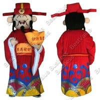 Wholesale Adult Size God of fortune mascot costume welcome new year