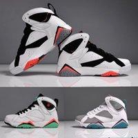 aj7 - Men Women Basketball Shoes Retro Retro Sneakers Brand Fuchsia Glow Cheap Original New AJ7 Sports Shoes