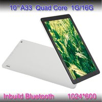 Wholesale 10inch Allwinnner A33 Tablet PC Quad Core Bluetooth Kitkat Android tablet pc G GB HD Capacitive Touch Screen Dual Cameras