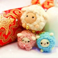 Wholesale Frankie dust plug three New Year festive ornaments sheep blankets poke fun handmade DIY materials package
