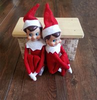 Wholesale New Arrival cm Plush Toys Collection Vintage Toy The Elf The Shelf Action Figure Brinquedos Classic Christmas Doll CW0322