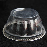 ice cream paper cup - paper cup cover Thick plastic disposable lid jelly mould lid sundae cup ice cream cup lid
