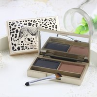 best eyebrow powder - Co co best quality shinning stereoscopic double colour eyebrow enhancer powder waterproof easy to wear colors
