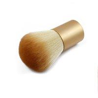 basic hair shop - Makeup Brushes Kabuki Brushes Make Up Powder Brushes Foundation Powder Brush Cosmetic Basic Tool Wooden Handle B2C Shop