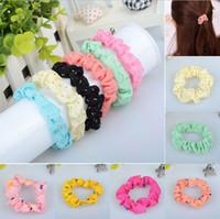 Wholesale 2014 Newest Design set Cute Sweet Girl Elastic Hair Band Ponytail Holder Accessories Headwear