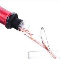 Wholesale 500pcs Red Wine Pourer Aerator Pour Spout Bottle Stopper Decanter Pourer Aerating Free DHL Fedex