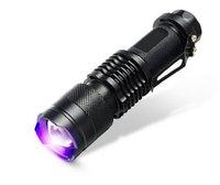 Cheap Newest Violet flashlight Mini Portable UV Ultra LED Flashlight Purple Blacklight Torch ultraviolet Lamp lanterna Light Mini Flashlight