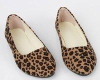 Long Sleeve flats - 2015 Hot Sales Womens Ladies Leopard Print Flats Flat Shoes Dolly Ballet Ballerina Pumps Ex39