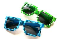 glass toys - Minecraft creeper sunglasses creeper glasses toy green blue GOOD QUALITY
