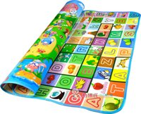 Wholesale Baby Crawling Mat m m CM Both Sides Baby Toy Play Mat Carpet Child Game Pad Mats for Children