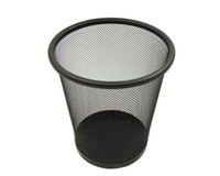 stainless steel trash bin - Waste bin Waste container Trash garbage can Office trash can paper basket standing trash Shape round x23cm