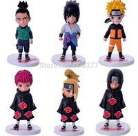 Wholesale 6pcs set Anime Naruto Deidara Uchiha Sasuke Gaara Uchiha itachi Uzumaki Naruto PVC Action Figures Collectible Toys