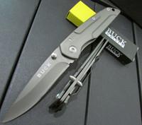 best buck knife - HOT sell Buck DA14 knives Hunting Folding Knives Cr13 HRC Blade Steel Plating Titantium Handle the best pocket mini knife